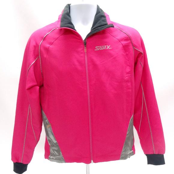 Swix Womens Running Jacket ~ Hot Pink w Gray 540230b6f